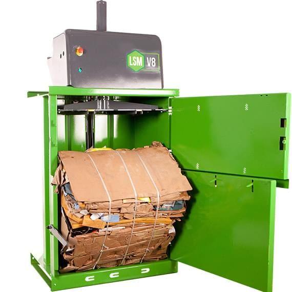 Bálázógép a kereskedelem hulladékainak tökéletes kezelésére, bevétel szerzésre